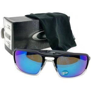 OO9266-04-59 Mens Black Frame Polarized Sunglasses
